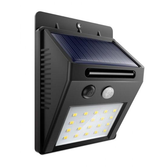 Lampa solara cu led, senzor de lumina si miscare