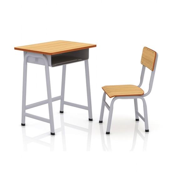 Pupitru si scaun pentru scoala, individual, din lemn